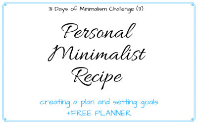 Creating Your Own Minimalist Recipe: Planning & Goals + FREE Planner!